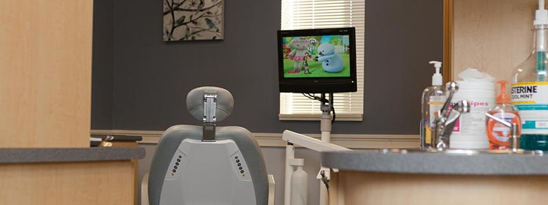 Dental chair for dental crowns at Williamsville Family Dentistry